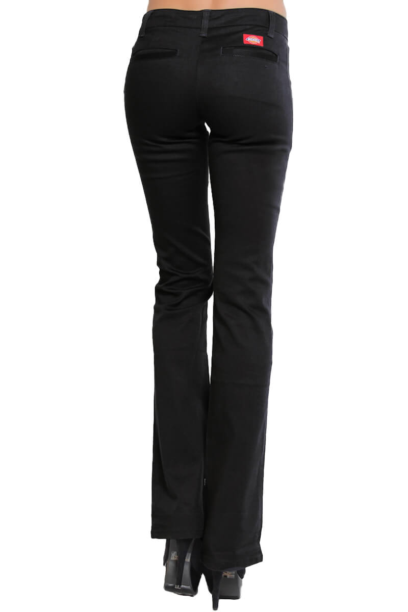 Dickies Girls Womens Denim Bootcut Flare Pants Stretch -8029