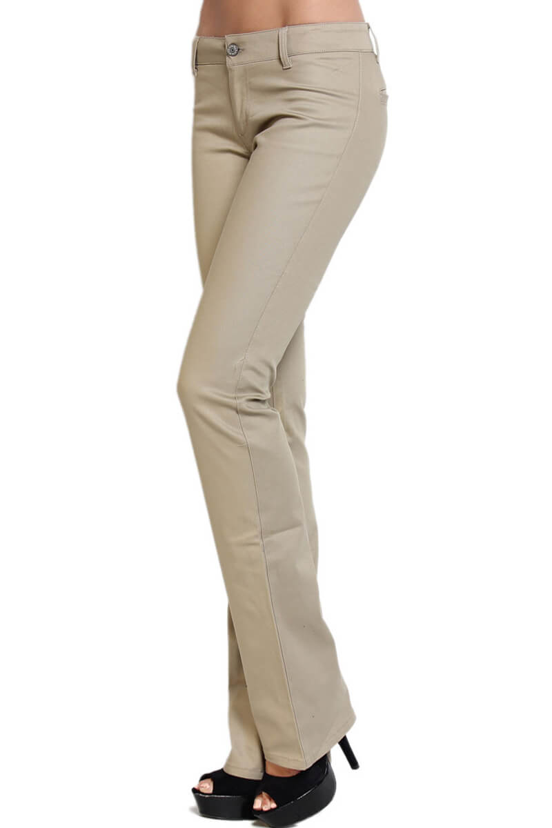 khaki pants womens dickies womens denim bootcut flare stretch 30293
