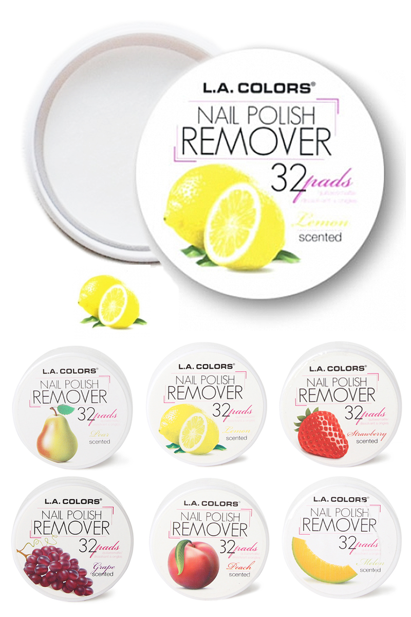 Pack of 2 L.A. COLORS Nail Polish Remover Pads - Acetone Free ...